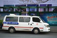 Ambulance. An ambulance parked  at  street Tianjin China photoed on january 18th 2014 Stock Photo