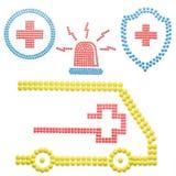 Ambulance with pills. Stock Photo