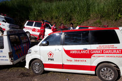 Ambulance preparation Stock Images