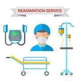 Ambulance reanimation symbols vector illustration Royalty Free Stock Image