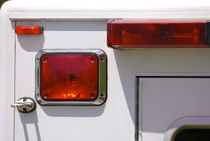Ambulance Rear View. Detail Royalty Free Stock Photography
