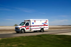 Ambulance Responding To A Call Royalty Free Stock Images