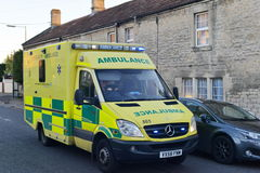 Ambulance Responds to a emergency Stock Images