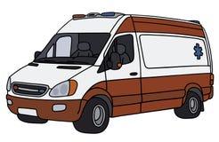 Ambulance rouge et blanche illustration libre de droits