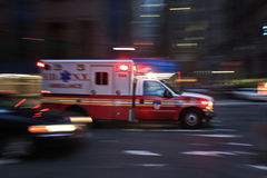 Ambulance. Run in new york streets royalty free stock photo