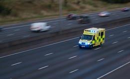 Ambulance in rush on the motorway Stock Photo