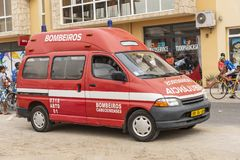 Ambulance Sal Rei Cape Verde stock image