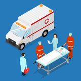Ambulance Service Concept. Vector Stock Image