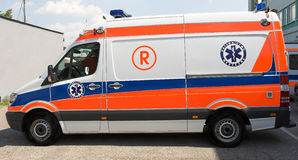Ambulance side Stock Images