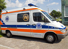Ambulance side Royalty Free Stock Images