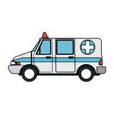 Ambulance sideview icon image Royalty Free Stock Photos