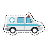 Ambulance sideview icon image Royalty Free Stock Photography