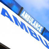 Ambulance sign Stock Photography