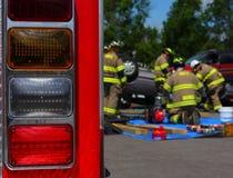 Ambulance siren lights from ba Royalty Free Stock Image