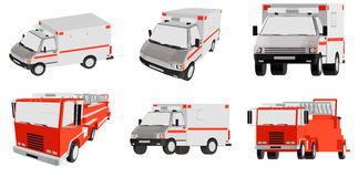 Ambulance, special car. Three-dimensional illustration ambulance, special car Royalty Free Stock Images
