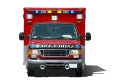 ambulance ssolated white Στοκ Εικόνες