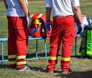 Ambulance staff Stock Photography
