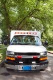 Ambulance on Street stock images