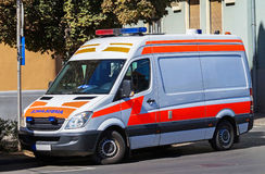 Ambulance on the street Stock Photography