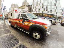 Ambulance. An ambulance in the streets of New York royalty free stock image