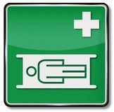 Ambulance, stretcher and relaxation room Royalty Free Stock Images