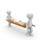 Ambulance stretcher Royalty Free Stock Photo