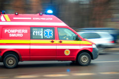 Ambulance in traffic Royalty Free Stock Images