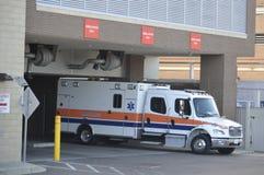 Ambulance Emergency Vehicle at a Hospital royalty free stock photo