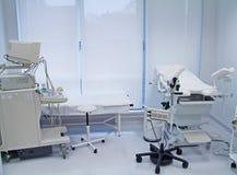 Ambulance with ultrasound equipment Stock Image