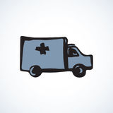 Ambulance. Vector drawing Royalty Free Stock Photos
