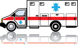 Ambulance vector. Illustration clip-art eps Royalty Free Stock Image