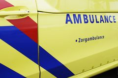 Ambulance Vehicle in Holland, side view royalty free stock photo