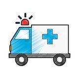 Ambulance vehicle icon Stock Image