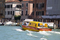 Ambulance in Venice Stock Image