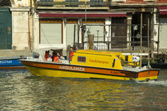 Ambulance in Venice Royalty Free Stock Photos