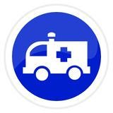 Ambulance web button Royalty Free Stock Photography