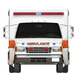 Ambulance on a white background Stock Images