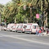 Ambulances Stock Photo