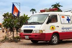 Ambulances at the hospital near Angkor wat Temple Royalty Free Stock Photography