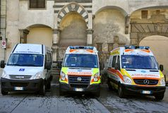 Ambulances in Italy Stock Image