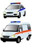 Ambulances and police Royalty Free Stock Photography