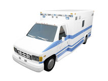 AmbulanceUS isolated front Stock Image