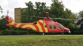 Ambulancia aérea imagen de archivo