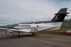 Ambulancia aérea de Beechcraft Kingair 200 Foto de archivo libre de regalías