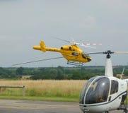 Ambulancia aérea del helicóptero del rescate fotografía de archivo libre de regalías