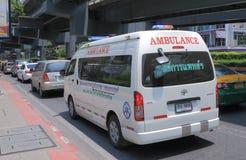 Ambulancia Bangkok Tailandia fotografía de archivo libre de regalías