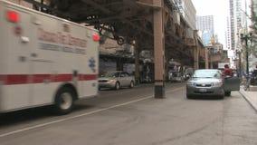 Ambulancia Chicago almacen de metraje de vídeo