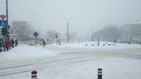 Ambulancia dans la tempête de neige