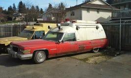 Ambulancia de Cadillac Foto de archivo libre de regalías