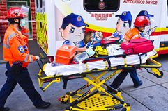 Ambulancia de Hong-Kong Imagenes de archivo